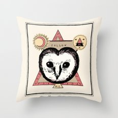 Follow the Owl Throw Pillow
