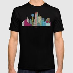 Dallas city  Mens Fitted Tee SMALL Black