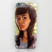iPhone & iPod Case featuring girl by thinKING