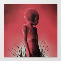 Dead Body Canvas Print