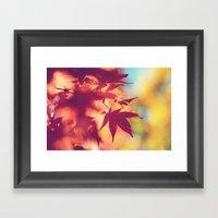 Dreaming of fall Framed Art Print