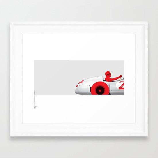 Juan Manuel Fangio, Mercedes W196, 1955 Framed Art Print
