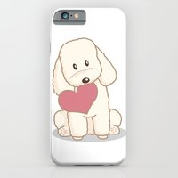 iPhone & iPod Case featuring Toy Poodle Dog with Love Illustration by Li Kim Goh