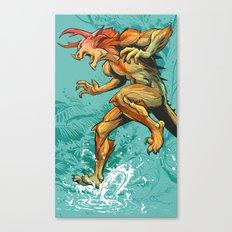 Monster Runner Canvas Print