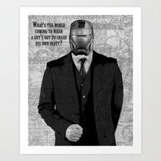 Unreal Party Iron Man Art Print