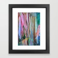 Taiga - Abstract Trees Surreal Pop Painting Framed Art Print