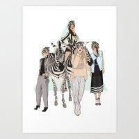Stripe Tease Art Print