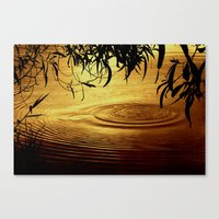 Honey Ripples Canvas Print