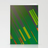 Canopus Green Orange Stationery Cards