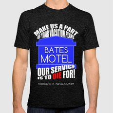 Bates Motel Advertisement  |  Alfred Hitchcock Mens Fitted Tee Tri-Black SMALL
