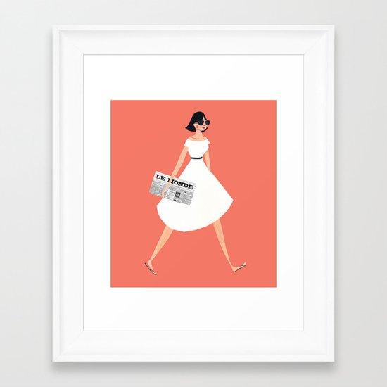 Sunday Paper Framed Art Print