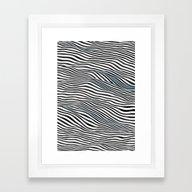Ocean Of Lines Framed Art Print