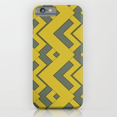 zig zag mustard iPhone 6 Slim Case