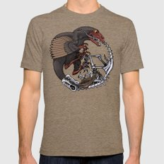 Ouroboros Mens Fitted Tee Tri-Coffee SMALL