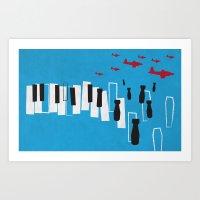Drone Piano Art Print