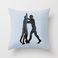 Molecule Man Throw Pillow