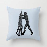 Molecule Man Throw Pillow