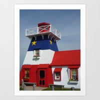 Acadian Lighthouse Art Print