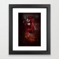 BORN OF FIRE Framed Art Print