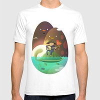 Island Lullaby Mens Fitted Tee White SMALL