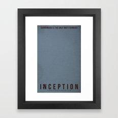 Minimalist Inception Framed Art Print