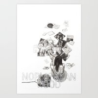 Norwegian Wood Film Post… Art Print