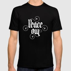 peace out Black SMALL Mens Fitted Tee