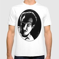 Vincent Price Mens Fitted Tee White SMALL