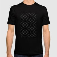 Wire Fence Mens Fitted Tee Black SMALL