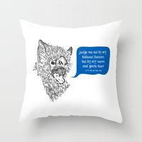 A Beast's Beseechment Throw Pillow
