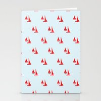 Stationery Card featuring Sails by Maria Tanygina