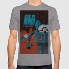 Life on mars Mens Fitted Tee Athletic Grey SMALL