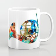 French Horn - Colorful M… Mug