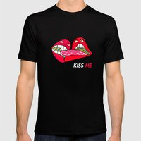 Kiss ME! Mens Fitted Tee Black SMALL