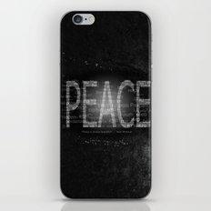 Peace is Always Beautiful iPhone & iPod Skin