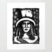 prada lady Art Print