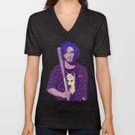 Unisex V-Neck featuring GAME OF THRONES 80/90s E… by Mike Wrobel