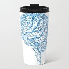 blue human brain Travel Mug