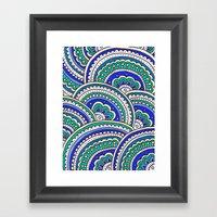 Ocean Mandala Framed Art Print