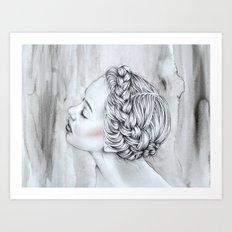 Braided Lady Art Print