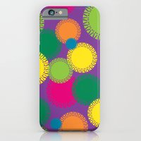 Spikey Circles Purple iPhone 6 Slim Case
