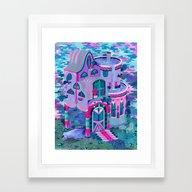 Framed Art Print featuring Bertram's House by Valeriya Volkova