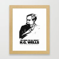 H.G. Wells Last Words Framed Art Print