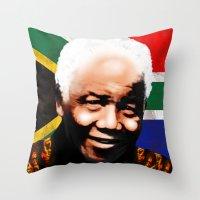 Nelson Mandela Madiba �… Throw Pillow