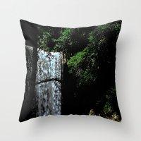 Cucumber Falls Throw Pillow