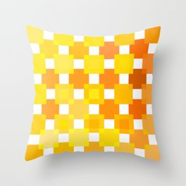 Throw Pillow - 50 Squares of YELLOW - Living Hell - Hell-Prints-Munich
