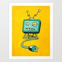 Edna TV Art Print