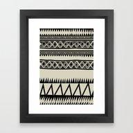 MALOU ZEBRA Framed Art Print
