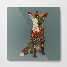 fox love juniper Metal Print