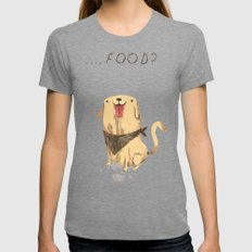 Food? Womens Fitted Tee Tri-Grey SMALL
